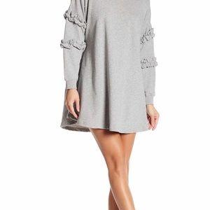 Solutions Ruffle Sleeve Swing Dress